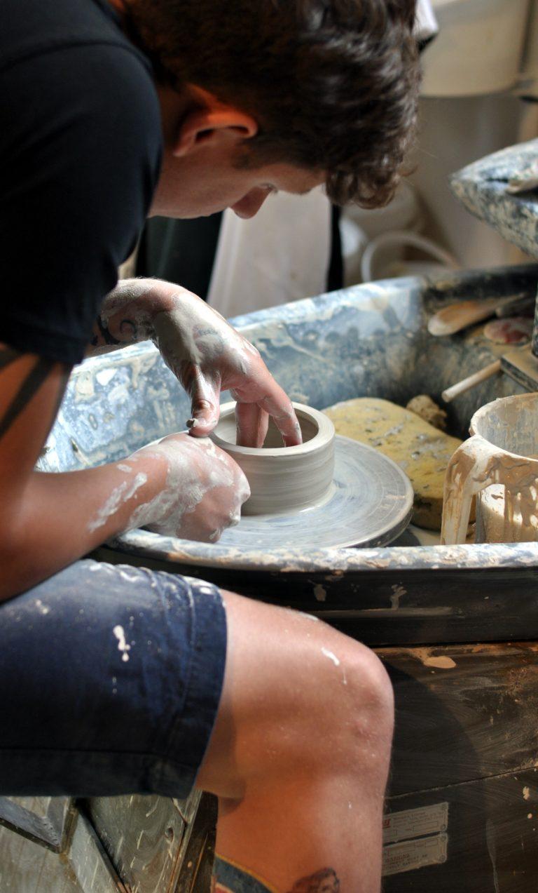 Stoneware bowl taking shape